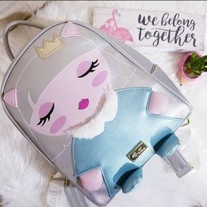 Betsey Johnson Princess Kitty Cat Backpack NEW